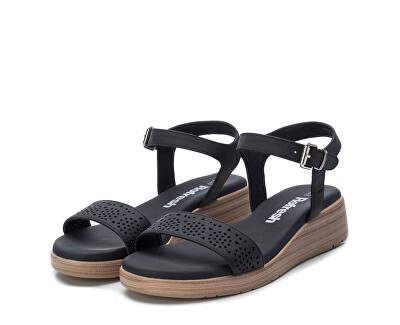 Dámské sandále Black Nobuk Pu Ladies Sandals 72208 Black