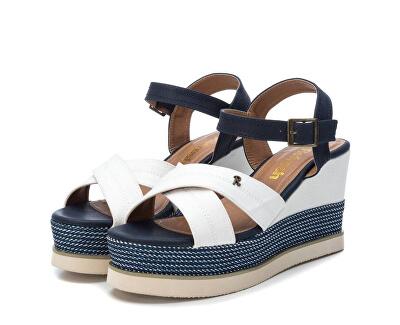 Dámské sandále White Textile Ladies Sandals 69595 White