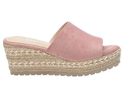 Dámské pantofle Nude Microfiber Ladies Sandals 72256 Nude