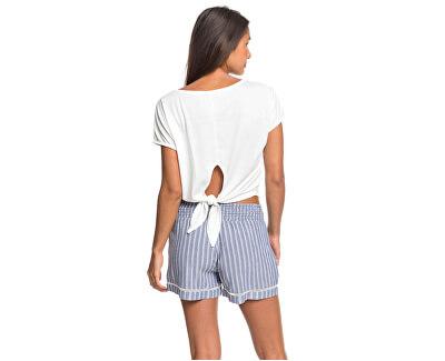 Pantaloncini da donna Bold Blooms Navy Stripes ERJNS03247-BPZ3