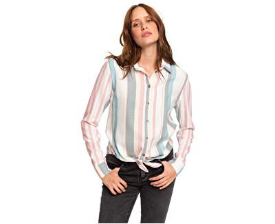 Dámská košile Suburb Vibes Stripe Snow White Retro Vertical ERJWT03343-WBK3