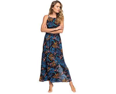 Vestito da donna Capri Sunset Anthracite Wild Leaves ERJWD03437-KVJ9