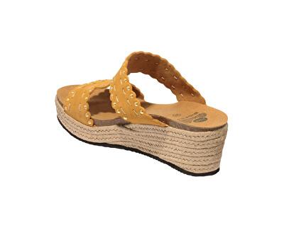 Dámské pantofle Shannon Bioprint Ochre F274801042