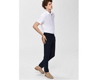 Pánské kalhoty SLHSTRAIGHT-PARIS LINEN PANTS W Dark Sapphire