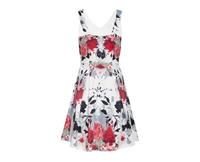 Rochie pentru femei 20232 Black - White / Roșu