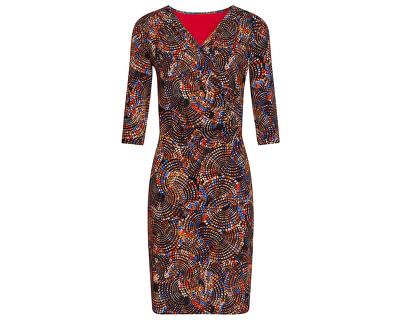 Dámske šaty 19777 Black / Orange