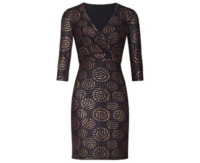 Dámske šaty 19889 Black / Brown