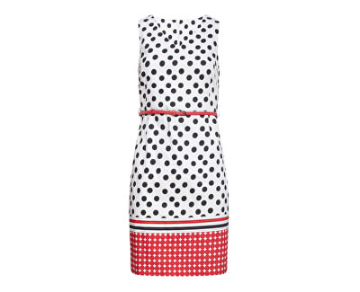 Vestito da donna 20026 Black-White/Red