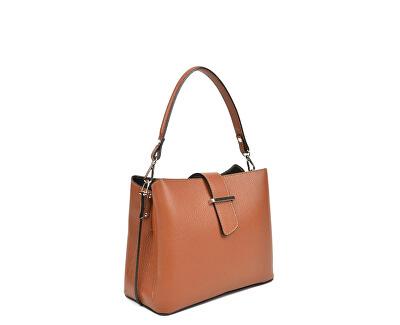 Dámská kožená kabelka AW19SC1565 Cognac