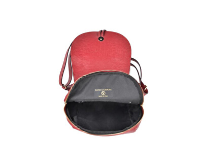 Dámský kožený batoh SC1418 Rosso