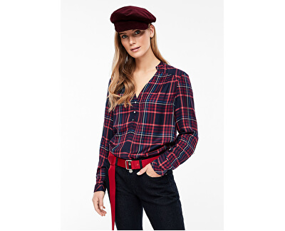 Bluză pentru femei BLOUSE LONGSLEEVE Navy Check 14.910.11.2365. 59N1