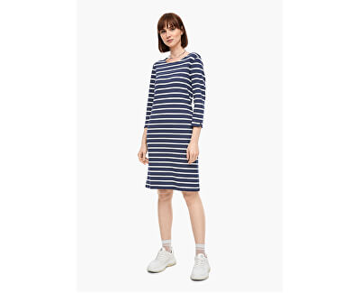 Dámské šaty 14.003.82.2968.58G9 Dark steel blue stripes