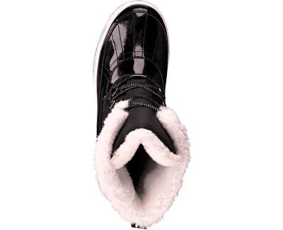 Dámske členkové topánky Black Comb 5-5-26245-33 -098