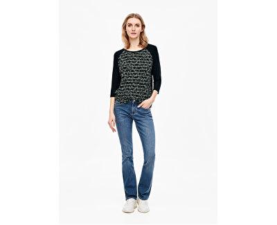 T-shirt da donna 14.001.39.5942.59D1Navy placed print