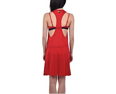 Dámské šaty Tommy Short Tank Dress Tee Tango Red UW0UW01730-611