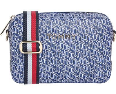 Doamnelor crossbody geantă de mână Icon ic Tommy Camera Bag Mono gram cerneală albastră