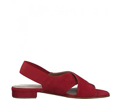 Sandali da donna in pelle 1-1-28017-34-515 Lipstick