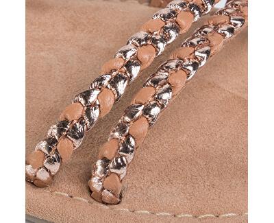 Sandale din piele pentru femei 1-1-28113-24-939 Copper Wooven