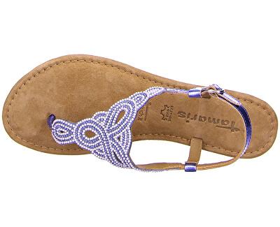 Sandale din piele pentru femei 1-1-28153-24-831 Bleu Glam Comb
