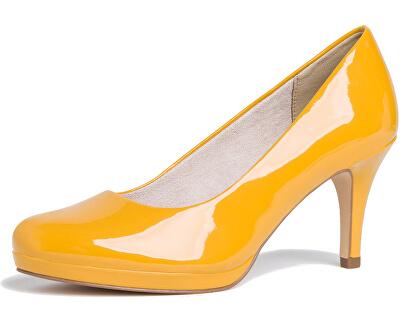 Scarpe da donna con tacco 1-1-22444-24-641 Saffron Patent