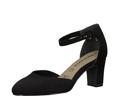 Pantofi cu toc pentru femei 1-1-24412-24-001 Black
