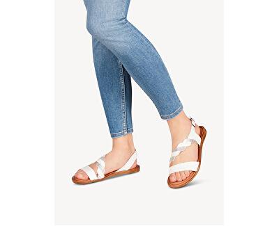 Sandali da donna 1-1-28142-24-191 White/Silver