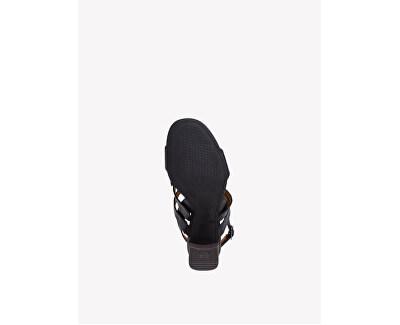 Sandali da donna 1-1-28317-24-021 Blk Lea/Snake