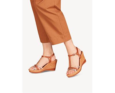 Sandali da donna 1-1-28347-24-393 Cognac/Snake
