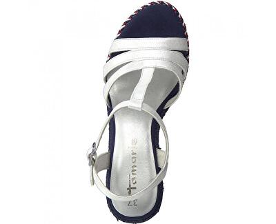 Sandali da donna  1-1-28372-24-127 Wht Met.Comb