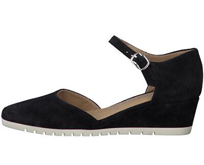 Pantofi cu toc pentru femei 1-1-24304-24-806 Navy Suede
