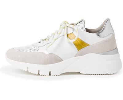Sneakers da donna 1-1-23701-34-216 Wht/Yellow Com