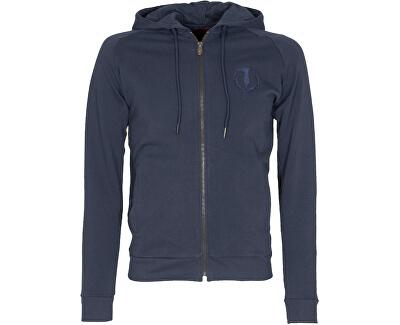 Hanorac pentru bărbați Full Zip Fleece Hood Pure Cotton Regular Fit