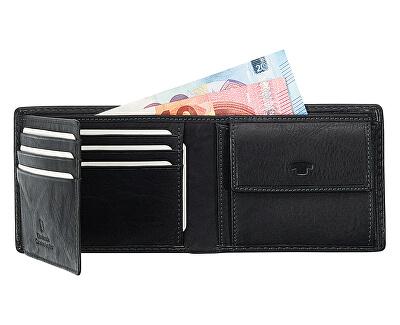 Férfi bőr pénztárca Black