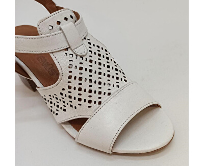 Dámské kožené sandále 1857209-300 White