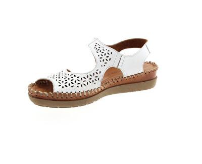 Dámské kožené sandále 20793512-1723 Beyaz