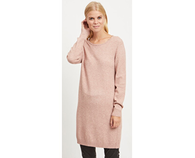 Rochie de damă VIRIL L / S KNIT DRESS - NOOS Ash Rose