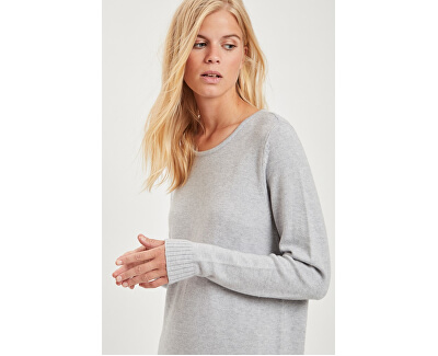 Rochie de damă VIRIL L / S KNIT DRESS - NOOS Melange Light Grey