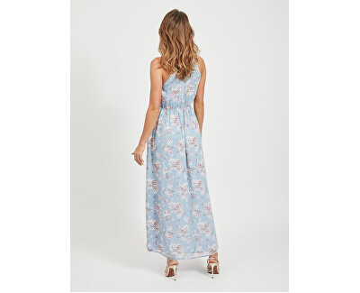 Dámské šaty VISMILLA MAXI DRESS/DC Ashley Blue FLOWER PRINT