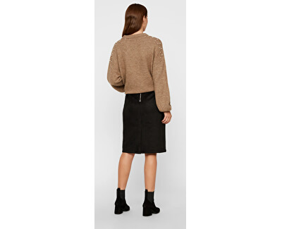 Dámska sukňa VMDONNADINA HW faux SUEDE BK SKIRT Black
