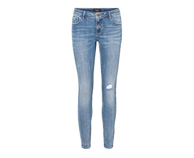 Dámske skinny džínsy VMLYDIA 10225480 Medium Blue Denim