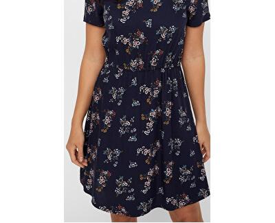 Dámske šaty VMAUTUMN AMAZE S/S SHORT DRESS WVN LCS Night Sky