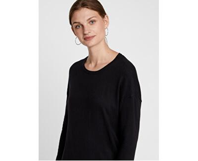 Dámske šaty VMHAPPY BASIC LS ZIPPER DRESS NOOS Black