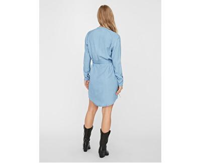 Vestito da donna VMSAFFI LS SHORT DRESS GA Light Blue Denim