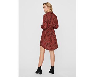 Vestito da donna VMSINE  L/S SHORT DRESS WVN BF  Brown Iben