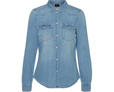 Camicia da donna VMMARIA 10209106Light BlueDenim BIRCH STITCH