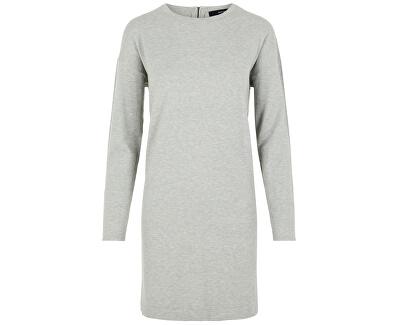 Dámske šaty VMHAPPY BASIC LS ZIPPER DRESS COLOR Light Grey Melange