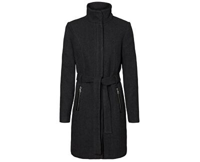 Dámsky kabát VMBESSY CLASS 3/4 WOOL JACKET NOOS Dark Grey Melange