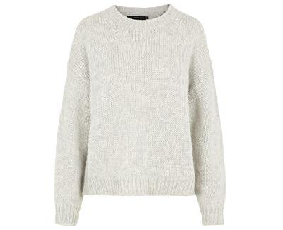 Dámsky sveter VMDARYA LS O-NECK BLOUSE COLOR Light Grey Melange