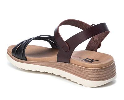 Dámské sandále Black Pu Ladies Sandals 49846 Black
