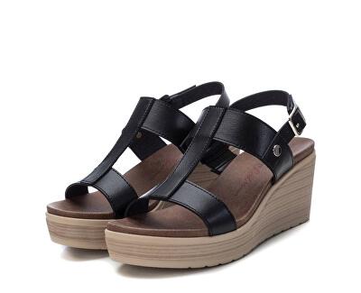 Dámské sandále Black Pu Ladies Sandals 49868 Black